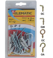 ELEMATIC BLISTER TASSELLI ENP/GM 9 PZ. 6