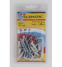ELEMATIC BLISTER TASSELLI ENP/GM12 PZ. 4