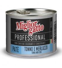 MIGLIORGATTO PATE PROFESSIONAL TONNO E MERLUZZO GR.200