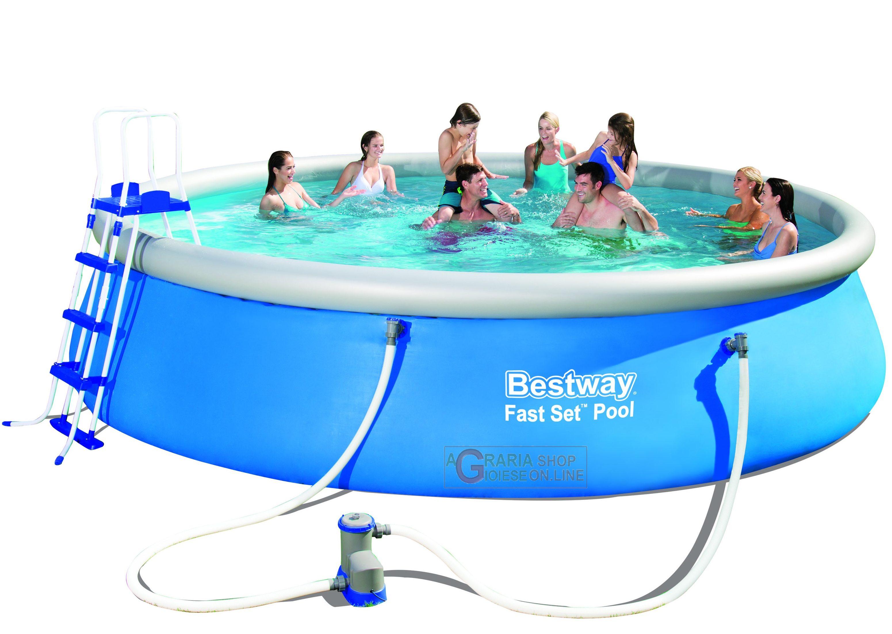 Bestway 57291 piscina autoportante fast set for Piscina autoportante