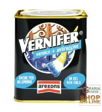 VERNIFER VERNICE A GEL CON ANTIRUGGINE NERO BRILLANTE ML. 750