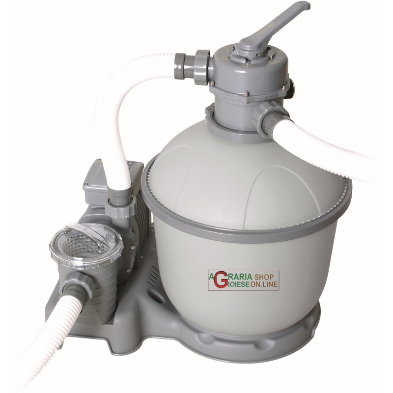 Bestway 58404 pompa filtrante per piscina a sabbia da 5 for Pompa per piscina