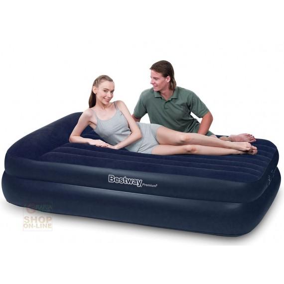 Bestway letto materasso auto gonfiabile doppio floccato cm for Materasso per auto