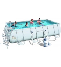 BESTWAY PISCINA POWER STEEL FRAME RETTANGOLARE CM.488x274x122