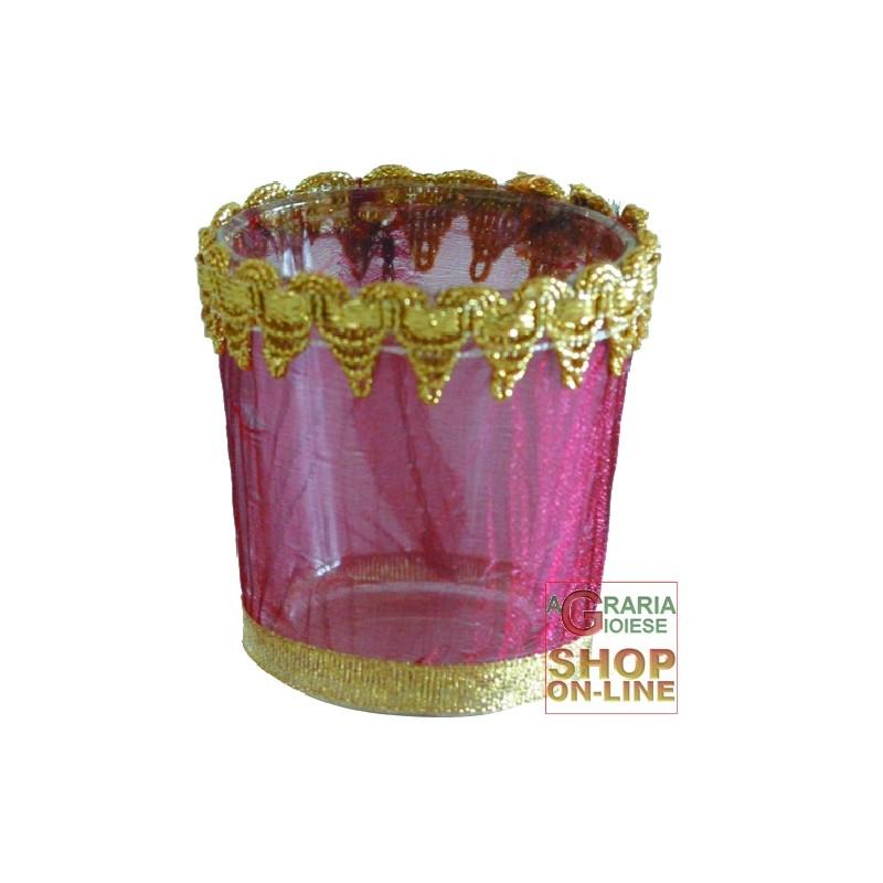 Porta tea light toulle in vetro cm 6x6 - Porta tea light ...