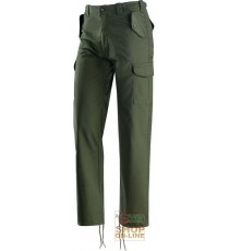 PANTALONE IN TERITAL MULTITASCHE COLORE VERDE TG S XXXL