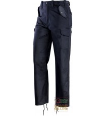 PANTALONI IN TERITAL MULTITASCHE FODERATI COLORE BLU TG M XXXL