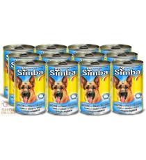 12 SCATOLETTE SIMBA CANE KG. 1,230 POLLO E TACCHINO