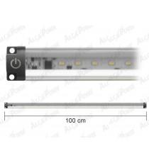 BARRA A LED ULTRA PIATTA LUCE NATURALE CON INTERRUTORE WATT. 10 CM. 100