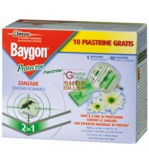 BAYGON DIFFUSORE RAID PROTECTOR NIGHT E DAY ZANZARE BASE CON 10 PIASTRINE