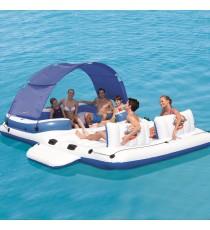 BESTWAY 43105 Isola Galleggiante Tropical Breeze Gonfiabile 6 Persone Mare Lago