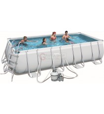 BESTWAY 56390 PISCINA CON TELAIO POWER STEEL FRAME CM.488x274x122h.