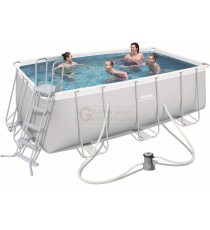 BESTWAY 56456 PISCINA CON TELAIO POWER STEEL FRAME CM.412x201x122h.