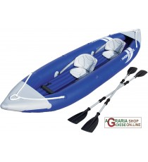 BESTWAY 65061 KAYAK HYDRO-FORCE BOLT X2 CON RIVESTIMENTO IN NYLON CM. 385x93