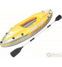 BESTWAY CANOA PROFESSIONALE KAYAK WAVE LINE CM 292X107 MAX 100 KG. MOD. 65019