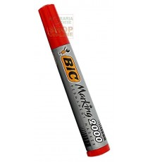 BIC PENNARELLO INDELEBILE FUSTO IN PLASTICA CON PUNTA TONDA COLORE ROSSA