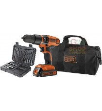 BLACK AND DECKER TRAPANO A PERCUSSIONE BATTERIA 18VP LITIO MOD. EGBL188S32