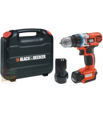 BLACK AND DECKER TRAPANO AVVITATORE A BATTERIA A LITIO EGBL108KB-QW