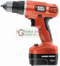 BLACK AND DECKER TRAPANO AVVITATORE A BATTERIA EPC12CAT22A 12V