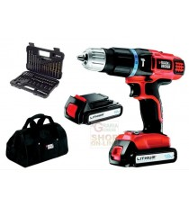 BLACK AND DECKER TRAPANO CON 2 BATTERIE LITHIO 18 V MOD. EGBL188BSA