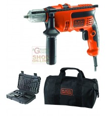 BLACK AND DECKER TRAPANO ELETTRICO A PERCUSSIONE CON SET KR714S32-QS SET-32 WATT. 710