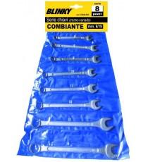 BLINKY SERIE CHIAVI COMBINATE PZ. 12 CROMOVANADIO MM. 6/22