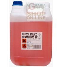 ALCOOL DENATURATO 94 GRADI LT. 5