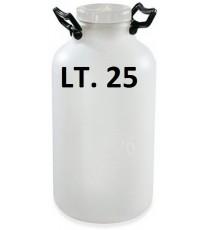 BOTTIGLIONE IN PLASTICA BIANCO LT. 25 B.L. PLASTIM