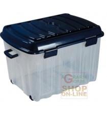 BOX BIG VOYAGER IN PLASTICA CON COPERCHIO RUOTE E MANIGLIA LT. 142