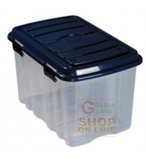BOX CASSA IN PLASTICA CON COPERCHIO E RUOTE LT. 54