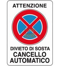 CARTELLO SEGNALE CANCELLO AUTOMATICO MM. 300X200