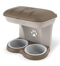 Ciotola per cani Bama Food Stand colore tortora kit da appendere a parete