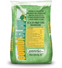 CONCIME GRANULARE MINERALE PAVONI COMBISLOW NPK 18.14.18+2 kg. 25