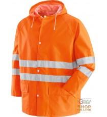 COMPLETO IN NYLON PVC CON BANDE 3M RIFRANGENTI EN 471  COLORE ARANCIO  TG  M L XL XXL