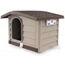 Cuccia per cani di media taglia Bama Bungalow beige dimensioni cm. 89x75x62h.
