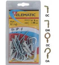 ELEMATIC BLISTER TASSELLI EB/OC 6 PZ. 10