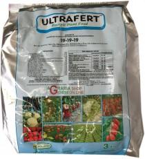 FERTENIA ULTRAFERT CONCIME IDROSOLUBILE FOGLIARE E RADICALE N.P.K. 19.19.19 con microelementi e alghe KG. 3