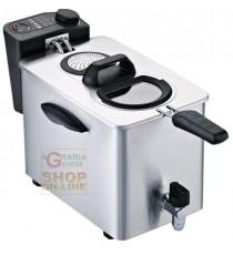 FRIGGITRICE ELETTRICA RGV PROFESSIONALE IN ACCIAIO INOX CAPACITA LT. 3/4 WATT. 2500