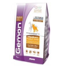 GEMON MANGIME PER CANI MEDIUM PUPPY JUNIOR CON POLLO E RISO KG. 3
