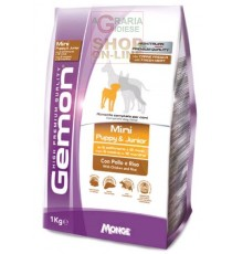 GEMON MANGIME PER CANI MINI PUPPY JUNIOR CON POLLO-RISO KG. 1