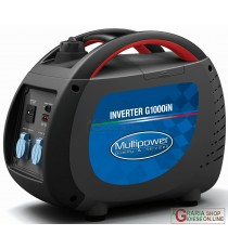 GENERATORE AD INVERTER PORTATILE PROFESSIONALE MULTIPOWER G1000iN KVA 0,85