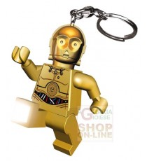 LEGO STAR WARS C-3PO FORMATO TORCIA PORTACHIAVI CON CATENELLA E ANELLO