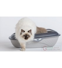 Lettiera Bama Shuttle pratica ed igienica con parashizzi per gatti