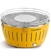LOTUSGRILL LOTUS GRILL XL BARBECUE DA TAVOLO PORTATILE PER ESTERNO GRANDE GIALLO YELLOW