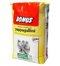 MANGIME COMPLETO PER PAPPAGALLINI BONUS SD6 CON BISCOTTINI KG. 25