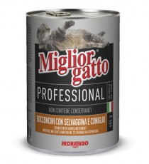 MIGLIORGATTO PROFESSIONAL CON SELVAGGINA E CONIGLIO GR. 405