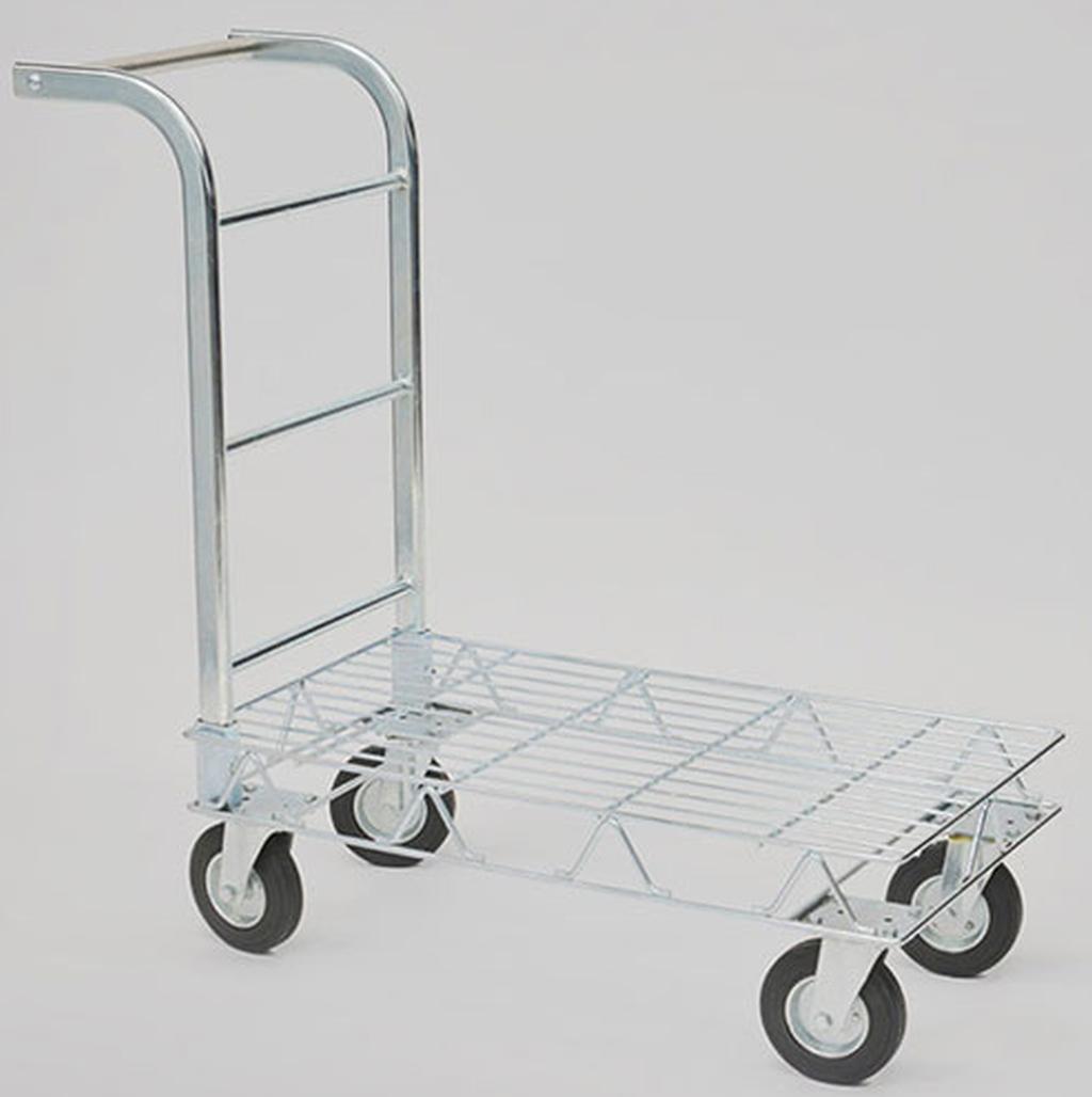 Carrello a pianetta in filo zincato con quattro ruote - Portabiti con ruote ...