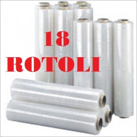 18 ROLLS STRETCH FILM FILM CM. 50X300ML TRANSPARENT KG. 2,5