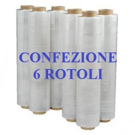 6 ROLLS STRETCH FILM FILM CM. 50X300ML TRANSPARENT KG. 2,5