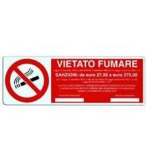 CARTELLO SEGNALI VIETATO FUMARE MM.350X120